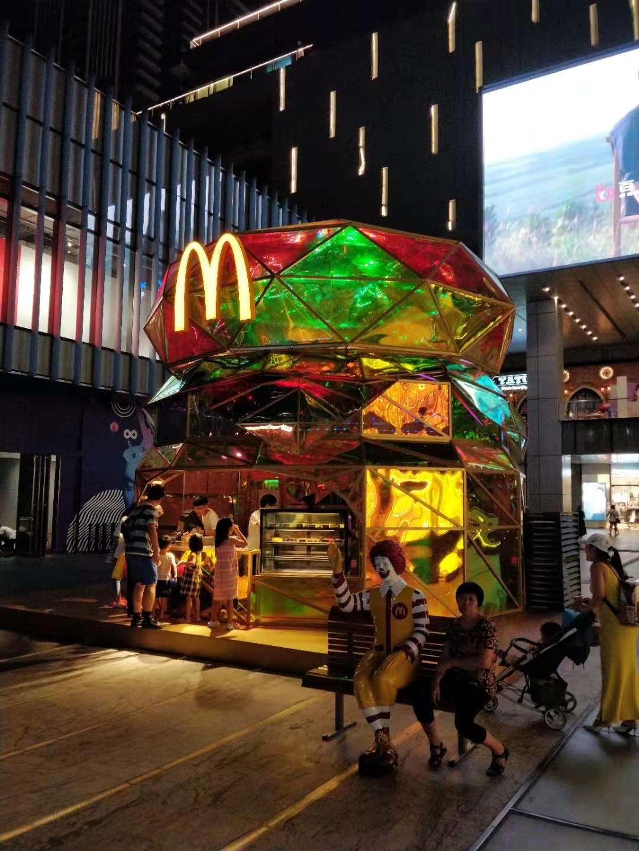 深圳万象新地にあったマクドナルドのマーケティング店舗