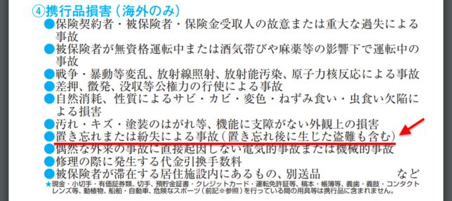 携行品損害 保険会社 三井住友海上